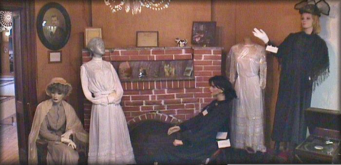Period apparel display.